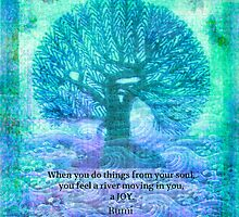RUMI Joy quote by goldenslipper