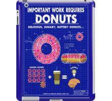 Donuts Blueprint iPad Case/Skin