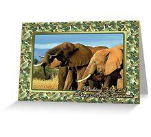 Elephant Blank Christmas Greeting Card Greeting Card