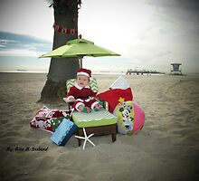 Baby Beach Santa .... by Rita  H. Ireland