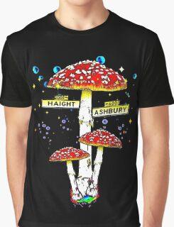 Haight Ashbury - Psychedelic Mushroom Graphic T-Shirt
