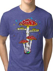 Haight Ashbury - Psychedelic Mushroom Tri-blend T-Shirt