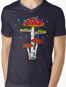 Haight Ashbury - Psychedelic Mushroom Mens V-Neck T-Shirt