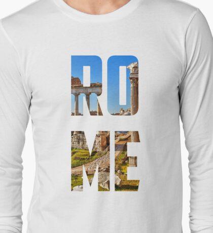 Rome - Image Underlay Long Sleeve T-Shirt