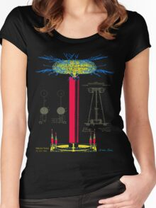 Tesla Coil Women's Fitted Scoop T-Shirt