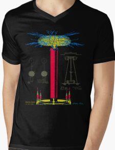 Tesla Coil Mens V-Neck T-Shirt