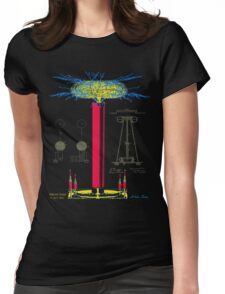 Tesla Coil Womens Fitted T-Shirt