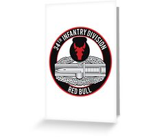 34th Infantry CAB Greeting Card