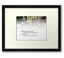 Hold On - Jonas Brothers Framed Print