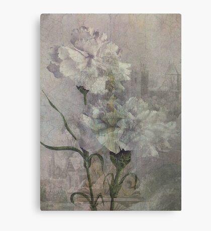 Castle Flowers Canvas Print