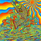 Psychedelic Rainbow Trout by Rebecca Wang