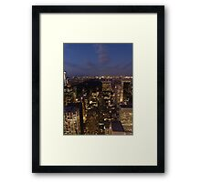 NYC Central Park at Night Framed Print
