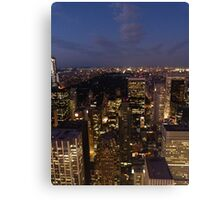 NYC Central Park at Night Canvas Print