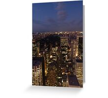 NYC Central Park at Night Greeting Card