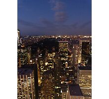 NYC Central Park at Night Photographic Print