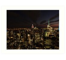 NYC Skyline at Twilight Art Print