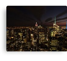 NYC Skyline at Twilight Canvas Print