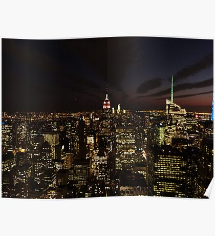 NYC Skyline at Twilight Poster