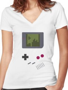 Nintendo Game Boy - Tetris Women's Fitted V-Neck T-Shirt