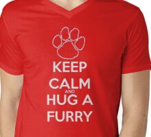 keep calm and hug  fur Mens V-Neck T-Shirt