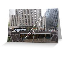 NYC Manhattan Streetscape with Angles Greeting Card