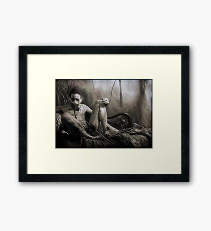 Serpent Fox Framed Print