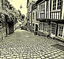 Dinan streetscape by hans p olsen