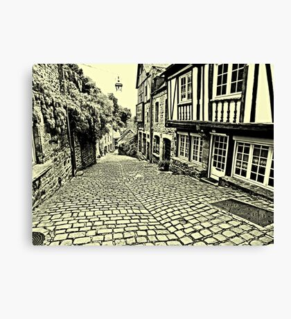 Dinan streetscape Canvas Print