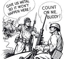 Give Us Metal So It Won't Happen Here -- WW2 by warishellstore