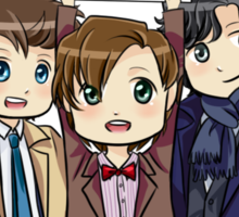 Chibi SuperWhoLock Sticker