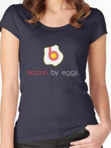 bacon by eggs Women's Fitted Scoop T-Shirt