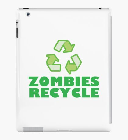 Zombies Recycle iPad Case/Skin