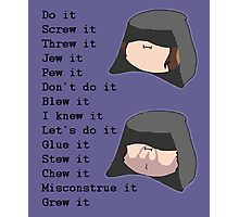 Game Grumps- Do It (Palpatine) Photographic Print