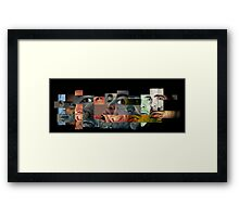 Many Faces Collage Framed Print