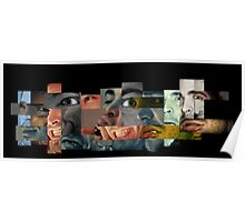 Many Faces Collage Poster