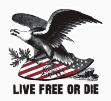 Live Free Or Die Great American Eagle Flag Shield Freedom by sturgils