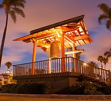 Japanese Friendship Bell at Low Angle by Chris Sauerwald