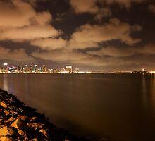 Downtown San Diego across the bay by Chris Sauerwald
