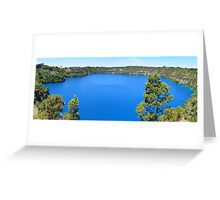 The Blue Lake Greeting Card