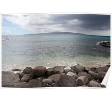 Ahihi Bay Maui with Kaho`Olawe in the distance Poster