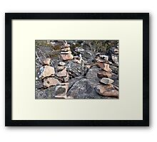 Stacked Rocks Framed Print