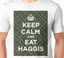 Keep calm, eat haggis Scottish tartan Unisex T-Shirt