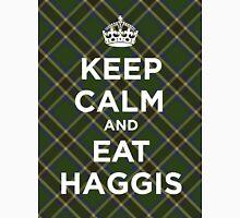 Keep calm, eat haggis Scottish tartan Unisex T-Shirt