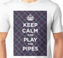 Keep calm, play the bagpipes Scottish tartan Unisex T-Shirt
