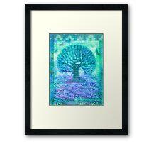 Tree of Life mixed media Framed Print