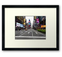 NYC Street towards Times Square Framed Print