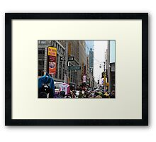 NYC Street with Signs Framed Print