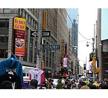 NYC Street with Signs Photographic Print