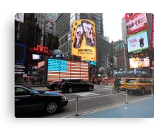 NYC - US Flag in Lights Metal Print