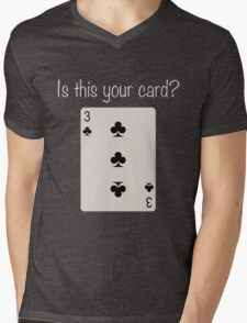 3 of Clubs Mens V-Neck T-Shirt